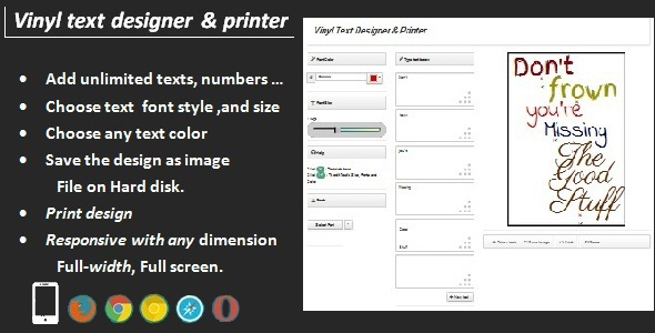 CodeCanyon Vinyl Text Designer & Printer 6695929