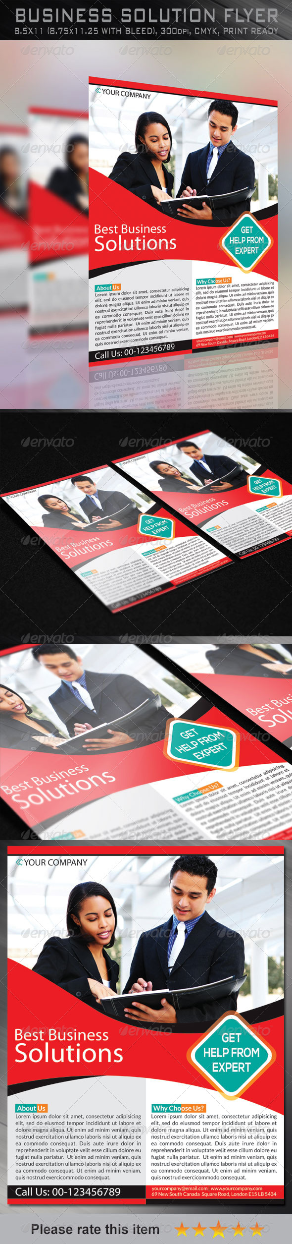 GraphicRiver Business Solution Corporate Flyer 6494602