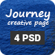Journey - One Page Portfolio Template PSD - ThemeForest Item for Sale