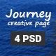Journey - One Page Portfolio Template PSD - ThemeForest Item for Sale