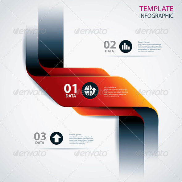 GraphicRiver Business Step Data and Numbers Design Template 6750198