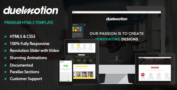 Duelmotion - Responsive Onepage Parallax Template - Creative Site Templates