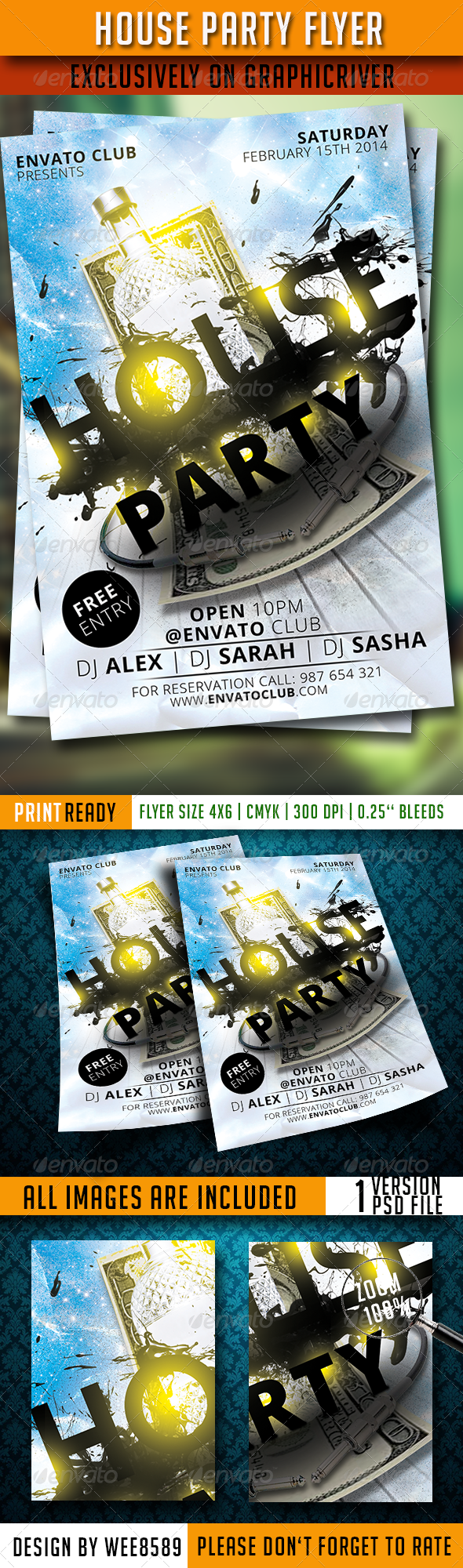 GraphicRiver House Party Flyer 6750252