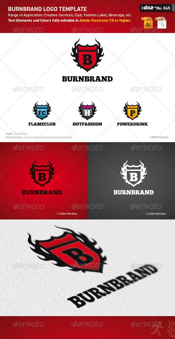 Burnbrand Logo Template - Crests Logo Templates