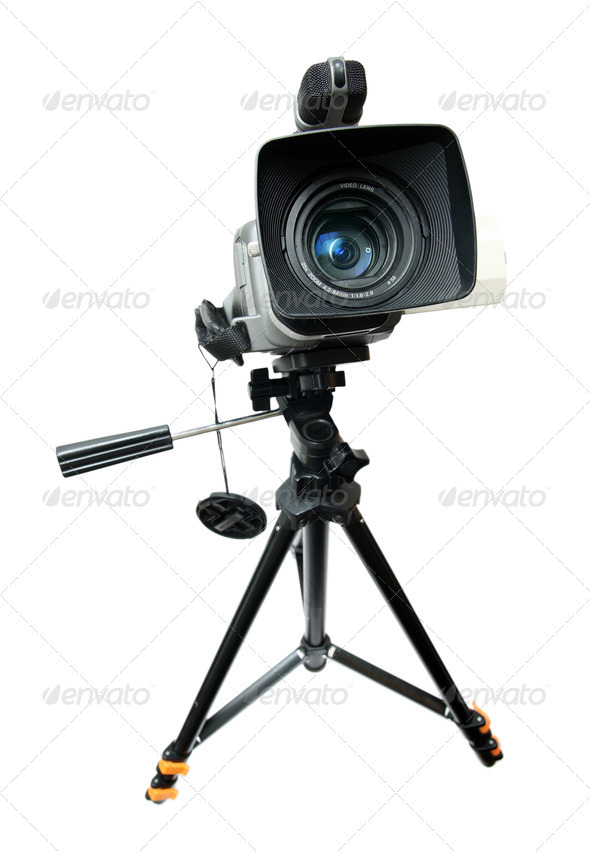 PhotoDune video camera on tripod 707159