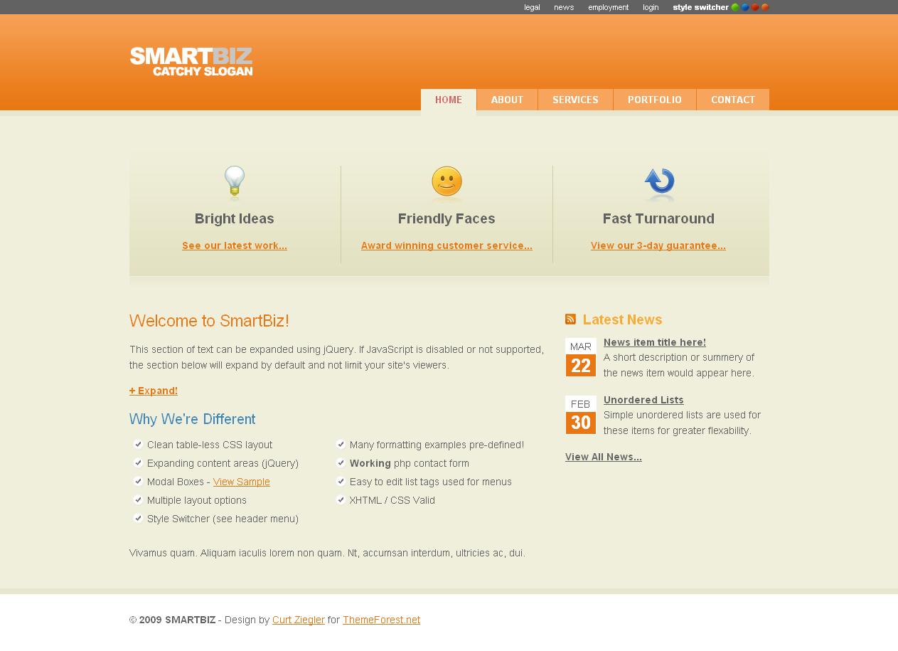 SmartBiz - 4 Color Business Template