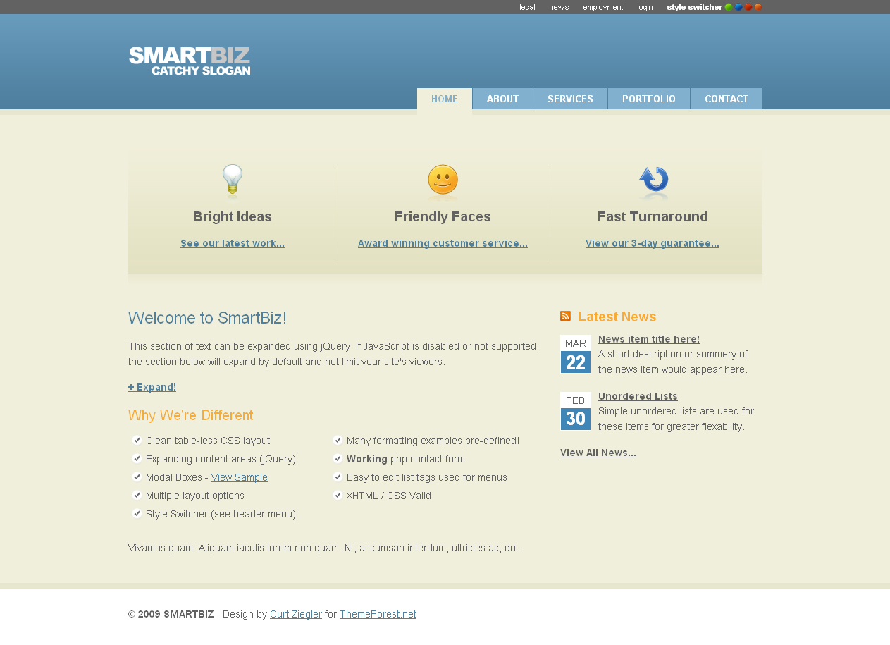 SmartBiz - 4 Color Business Template