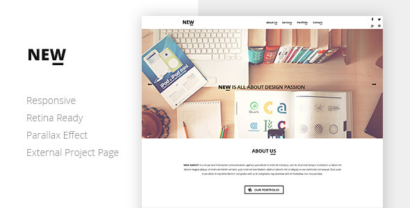 ThemeForest NEW Creative One Page Template 6750863