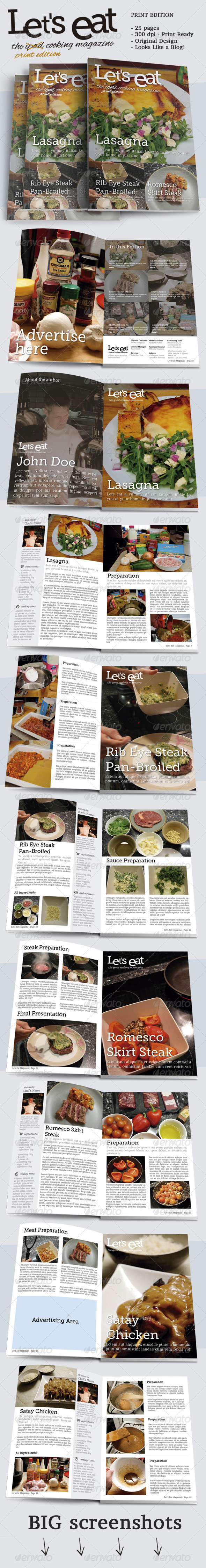 GraphicRiver Cooking Magazine 6750987