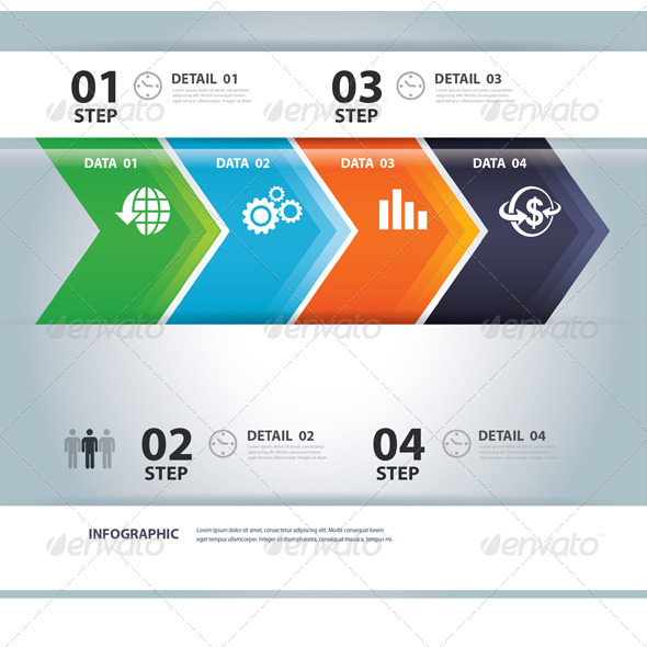 GraphicRiver Business Step Paper and Numbers Design Template 6751117