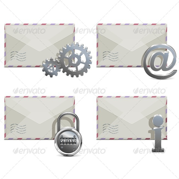 GraphicRiver Vector Mail Icons 6751166