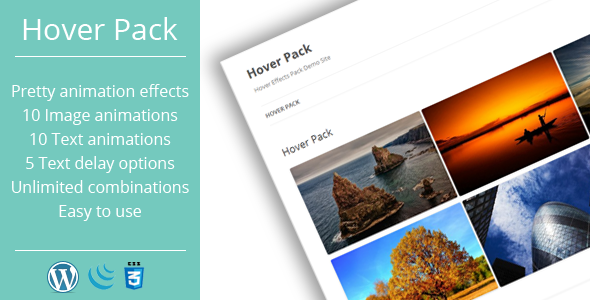 CodeCanyon Hover Effects Pack WordPress Plugin 6712508