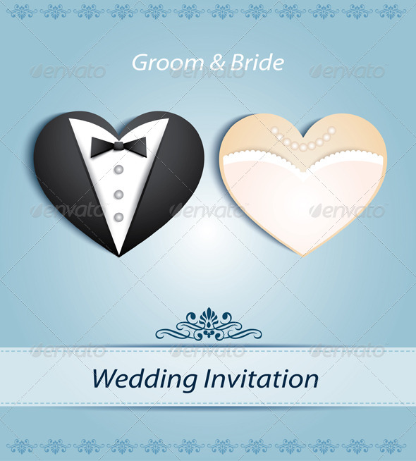 GraphicRiver Wedding Card in The Form of Heart 6751277