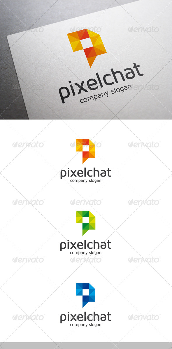 GraphicRiver Pixel Chat Logo 6752339