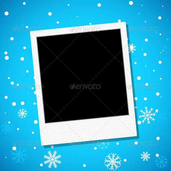 GraphicRiver Photo Frame on a Snowy Background 6752380