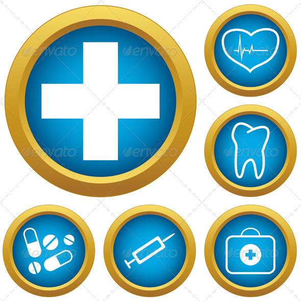 GraphicRiver Medicine Icons Set 6752389