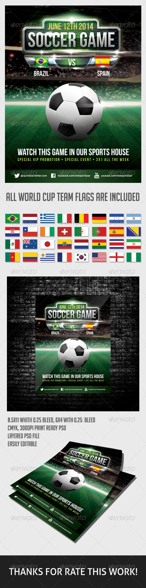 GraphicRiver Soccer Game Poster 6752407