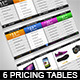 Modern Pricing Tables - GraphicRiver Item for Sale