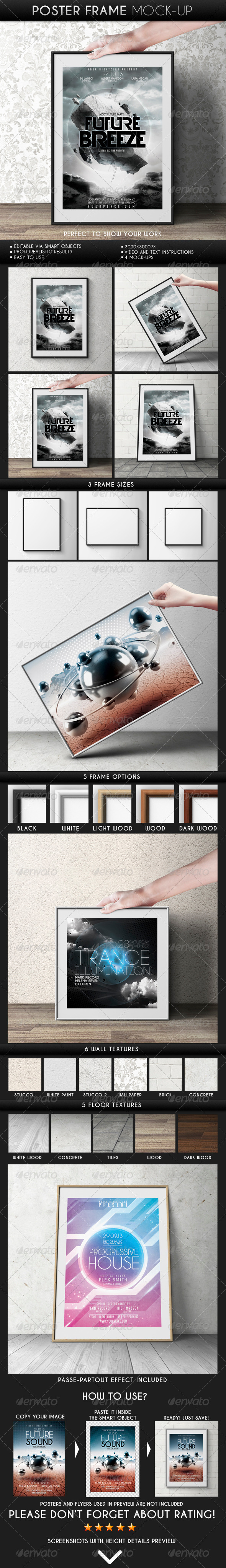 GraphicRiver Poster Frame Mock-Up 6753113