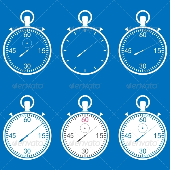 GraphicRiver Stopwatch Set 6753448