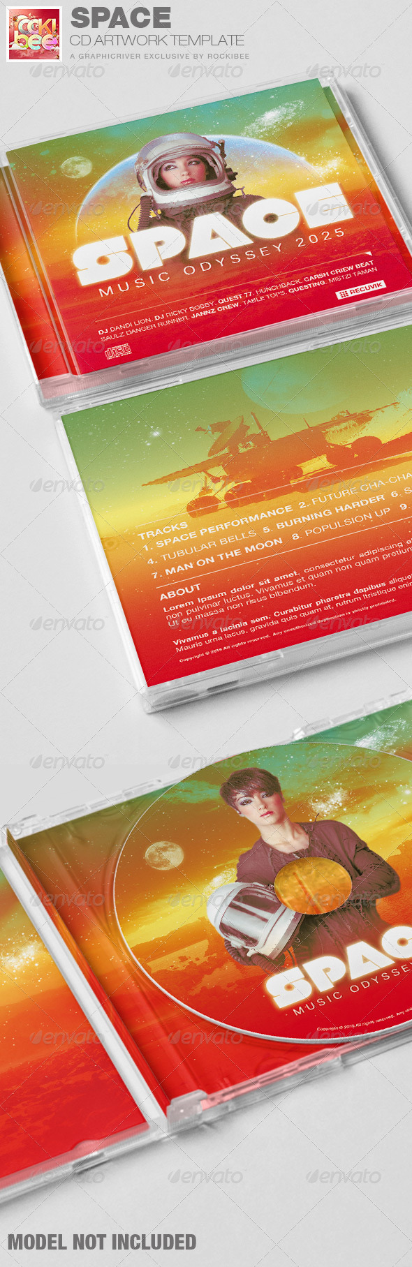 GraphicRiver Space CD Artwork Template 6753455