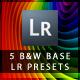 5 B&W Base Lightroom Presets - GraphicRiver Item for Sale