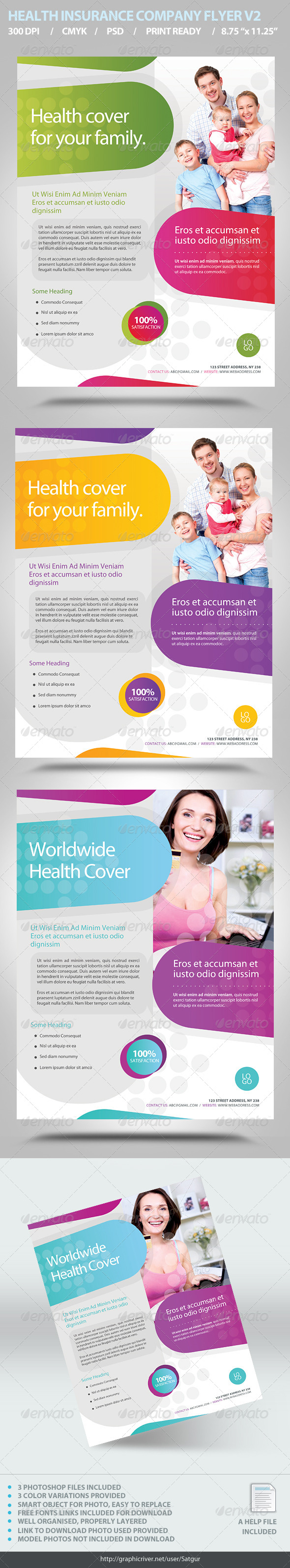 Health Insurance Flyer Template V2 - Corporate Flyers