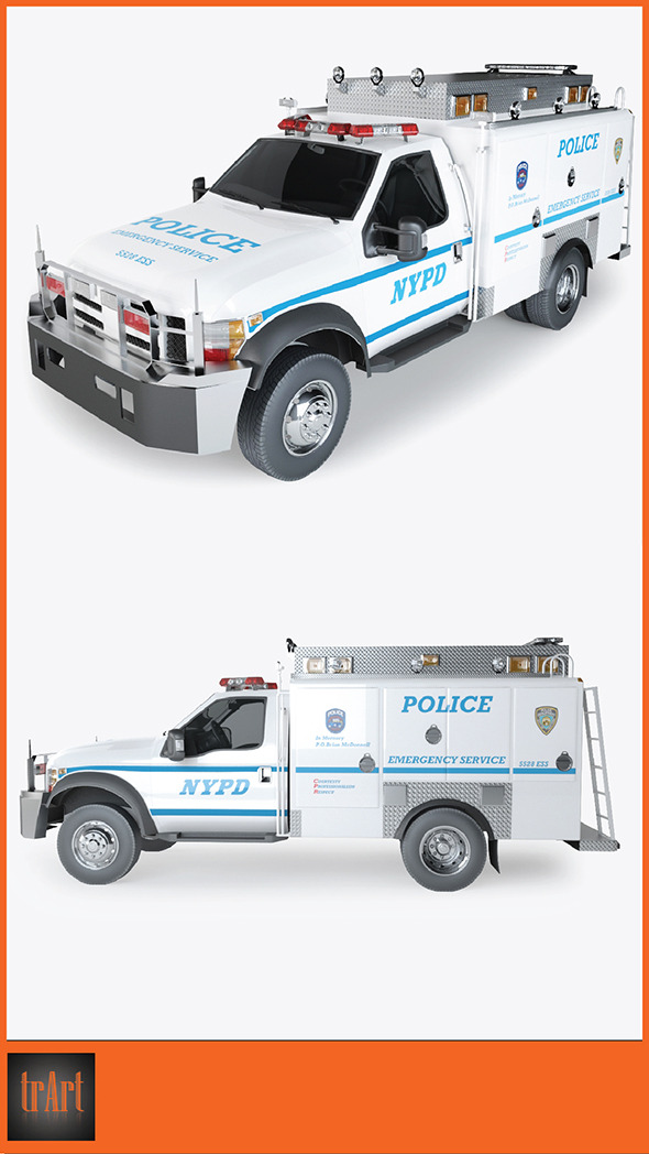 Police Radio Truck - 3DOcean Item for Sale