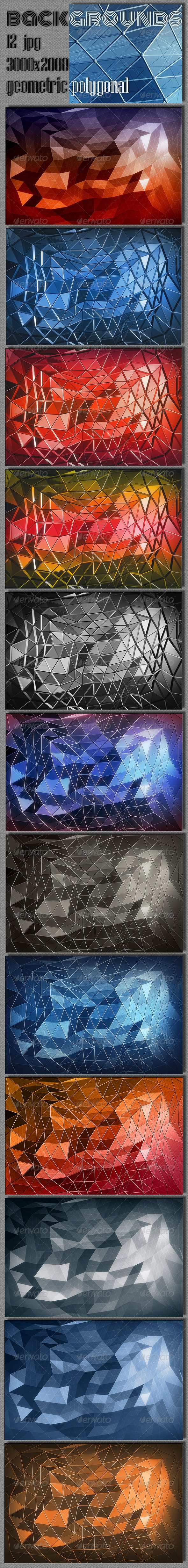GraphicRiver Polygonal Geometric Backgrounds 6753533