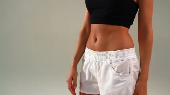 Download Girl Shows Sports Stomach nulled download