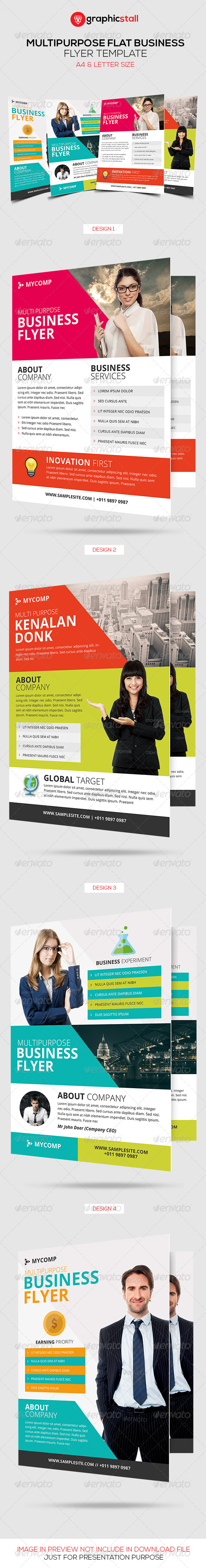 GraphicRiver Multipurpose Flat Business Flyer 6753711