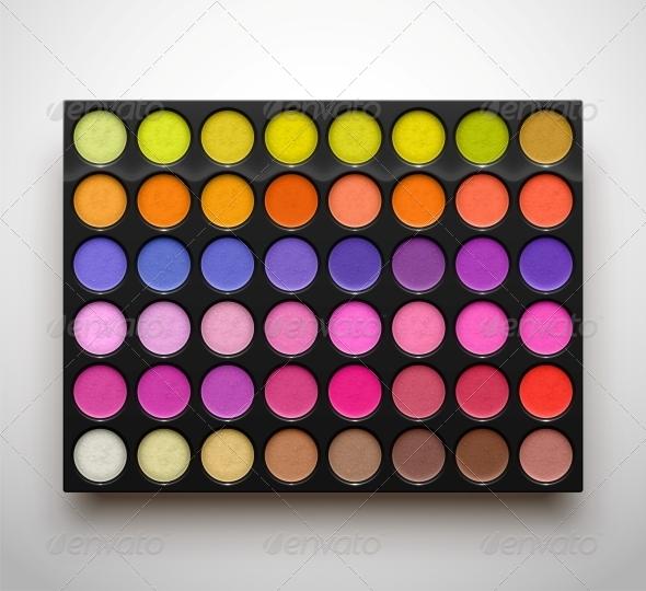 GraphicRiver Palette Eye Shadows 6753712