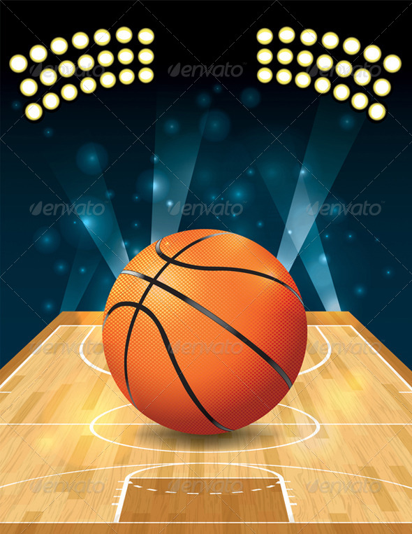 GraphicRiver Vector Basketball Court 6753727