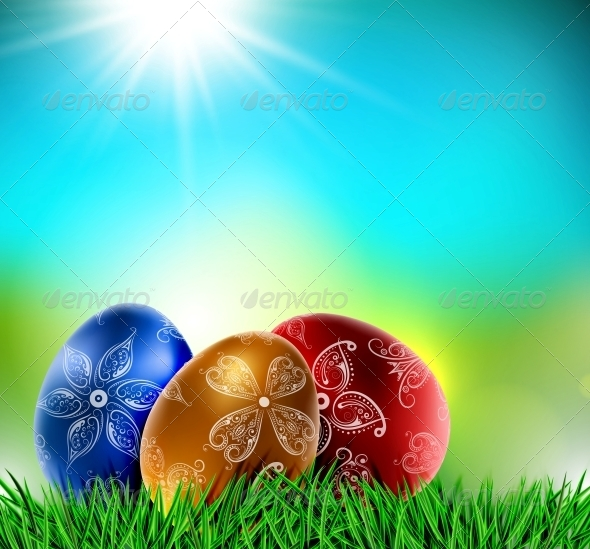 GraphicRiver Eggs on Natural Background 6753738