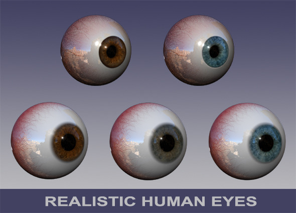 Dynamic Human Eyes Pack - 3DOcean Item for Sale