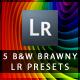 5 B&W Brawny Lightroom Presets - GraphicRiver Item for Sale
