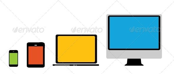 GraphicRiver Computing Concept on Different Electronic Devices 6754004