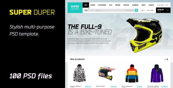 ThemeForest Super Duper PSD Template 6754514