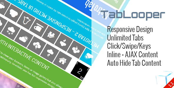 TabLooper - Responsive Loop Tab Metro UI - CodeCanyon Item for Sale