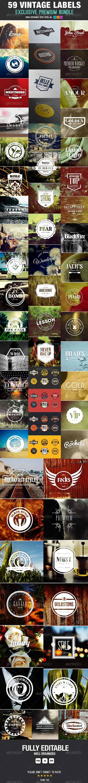 GraphicRiver Premium Bundle 59 Vintage Labels & Badges 6754946