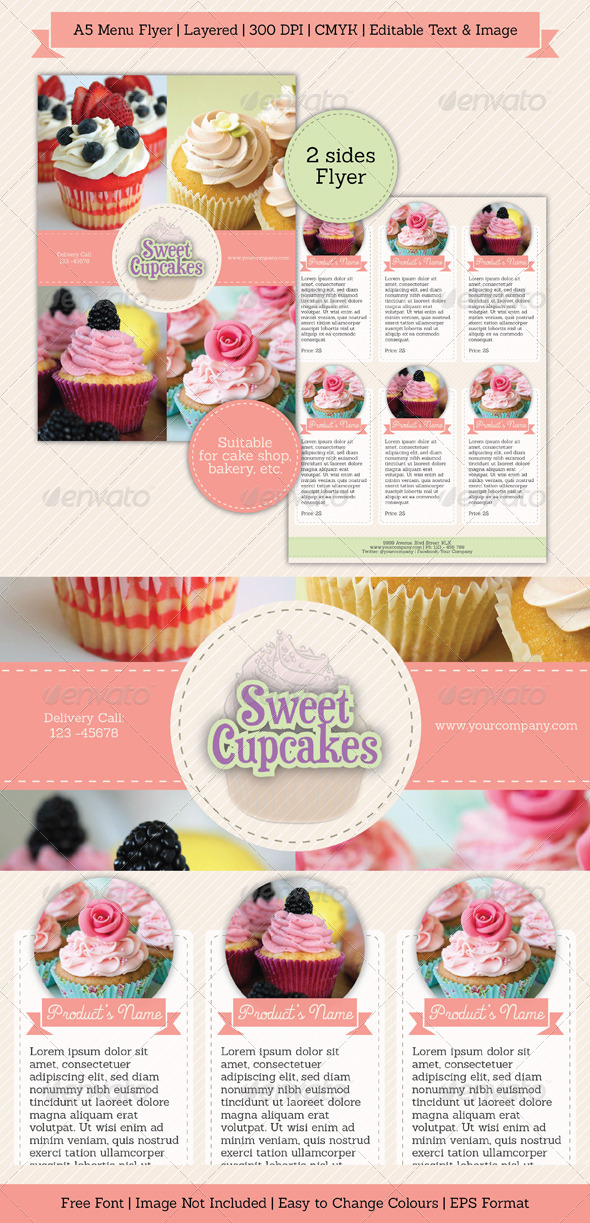 GraphicRiver Sweet Simple Menu Flyer 6745293