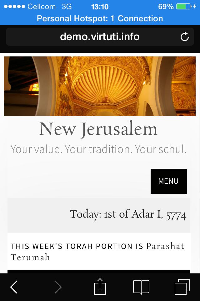 New Jerusalem - Synagogue (Schul) WordPress Theme