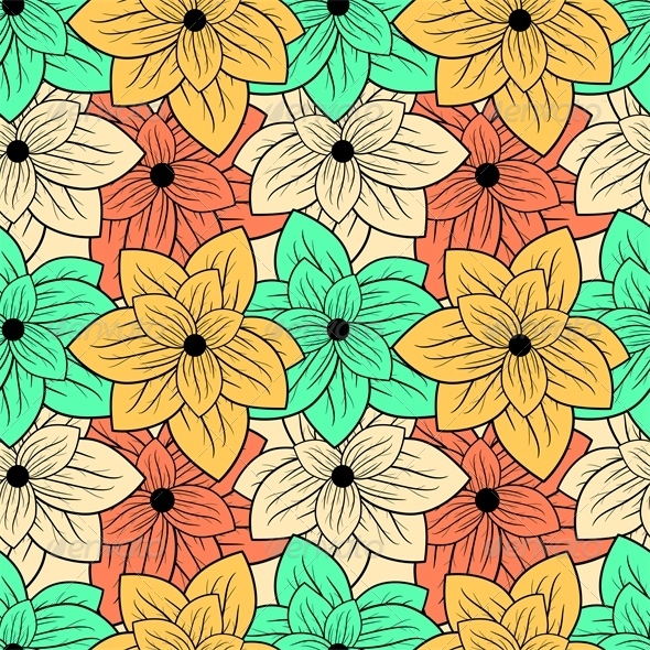 GraphicRiver Floral Pattern 6755252