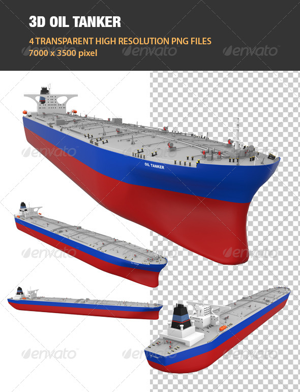 GraphicRiver 3D Oil Tanker 6755258