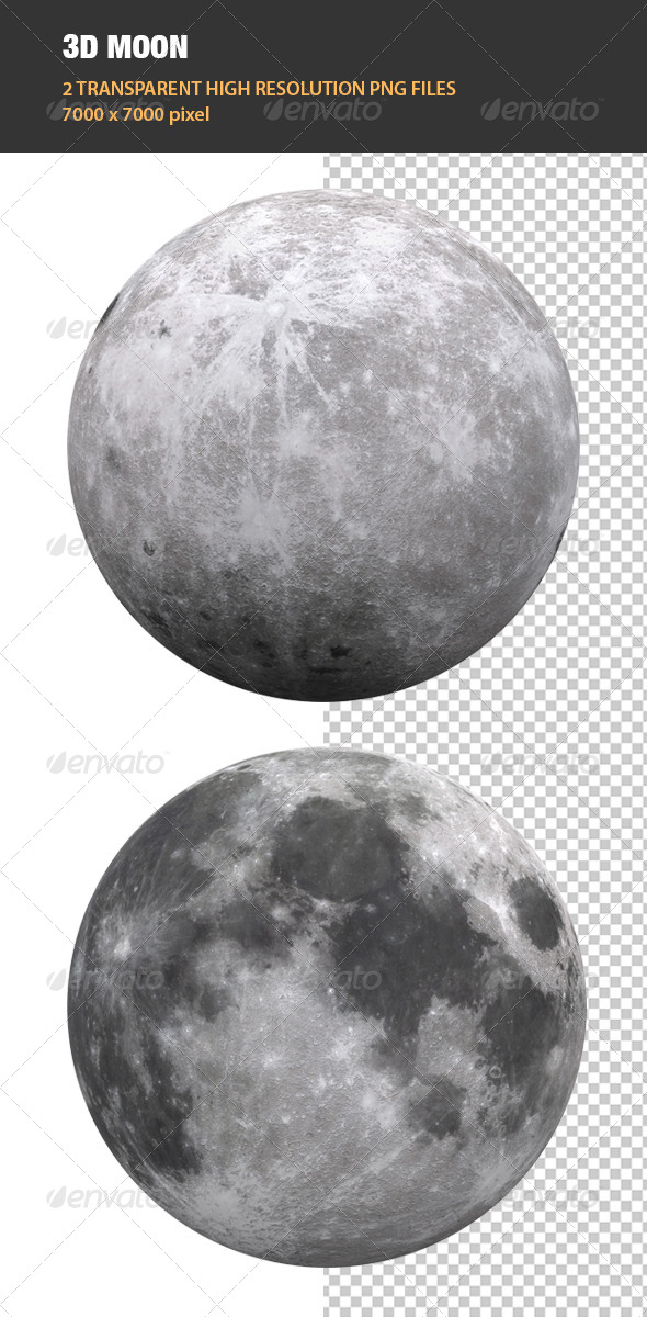 GraphicRiver 3D Moon 6755277