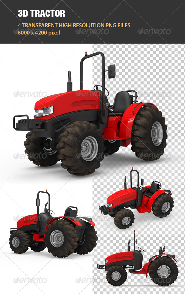 GraphicRiver 3D Tractor 6755416