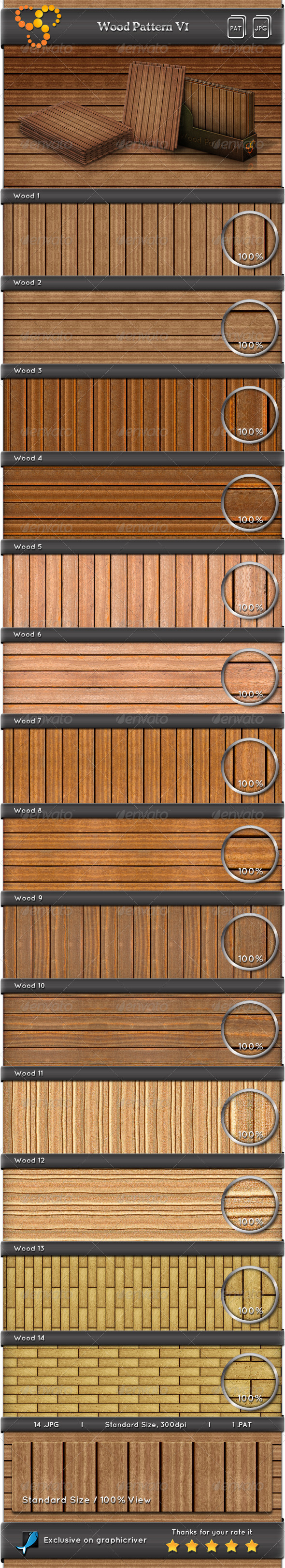 GraphicRiver Wood Pattern V1 6755434