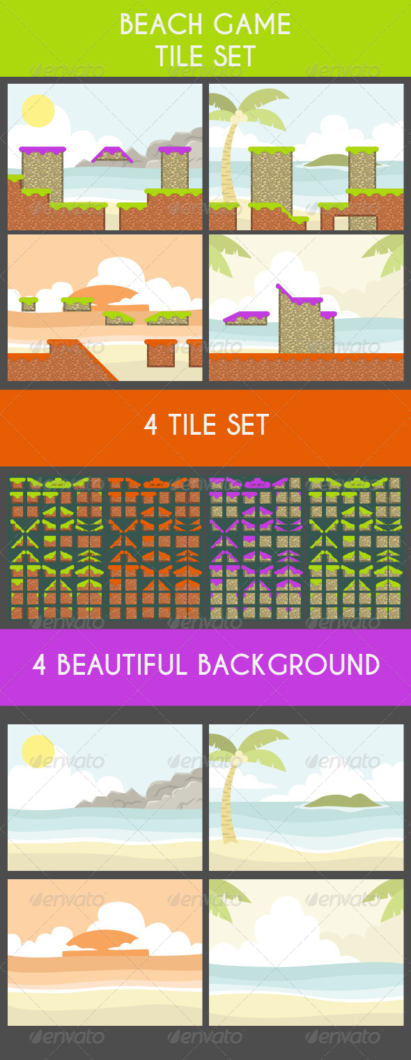 GraphicRiver Beach Game Tile Set 6755475