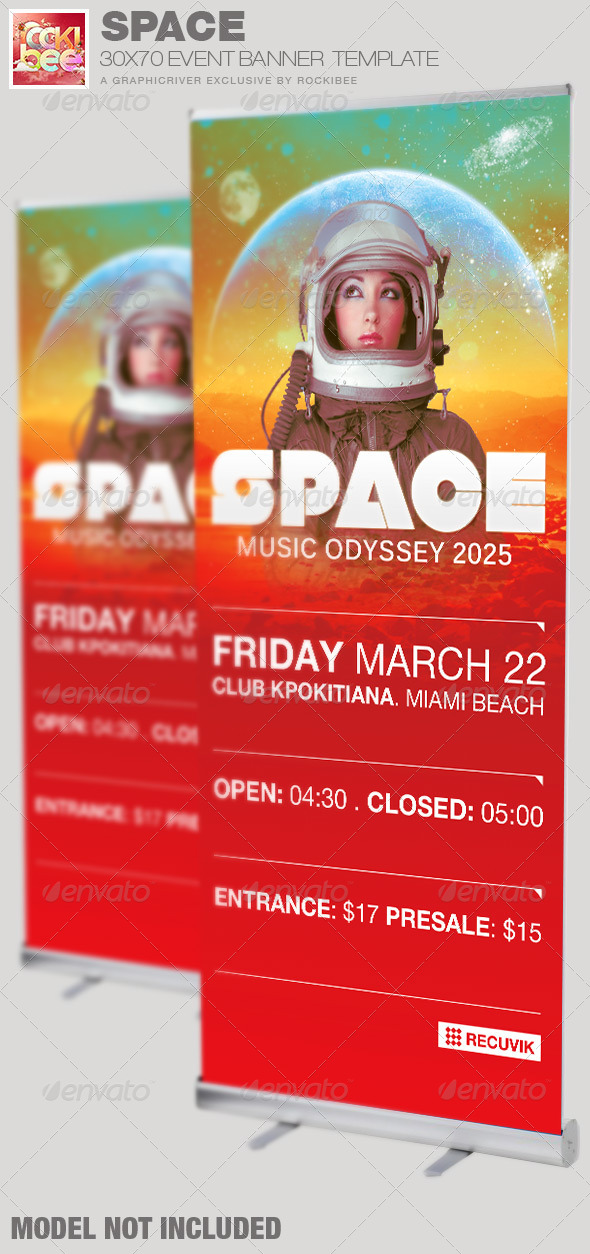 GraphicRiver Space Event Banner Template 6755513