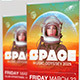 Space Event Banner Signage Template